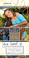 Haley Evans Grad Cards Proof